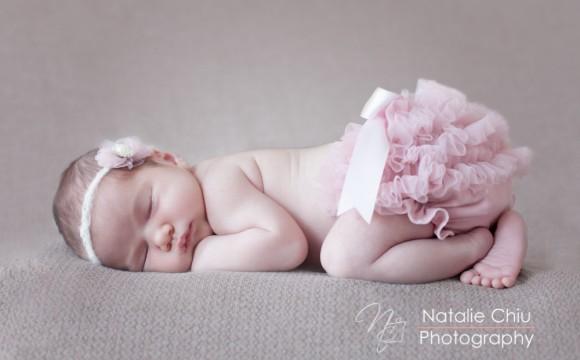 A cuddly newborn