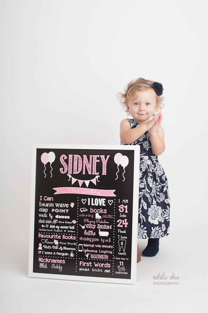 Pink Girl Birthday Chalkboard