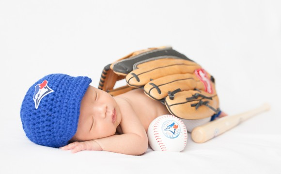 Go Jays Go! A Newborn Toronto Blue Jays Fan – North York, Toronto, Photography, Photographer