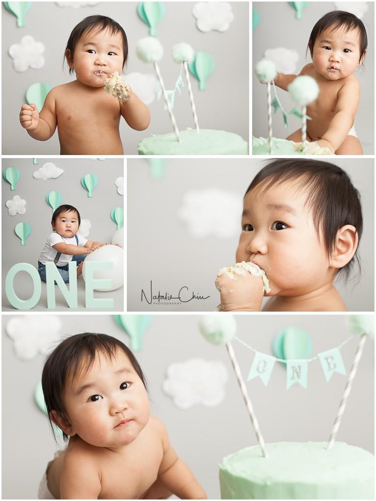 Baby Boy Hot Air Balloon Cake Smash